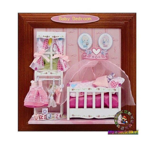 (保存)DIY袖珍屋娃娃屋手作寶貝睡房