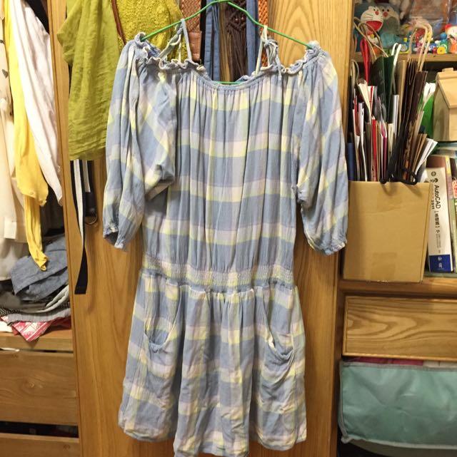 Lowrys Farm 日本帶回露肩洋裝(含運)