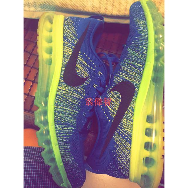 Nike flyknit max雪碧配色