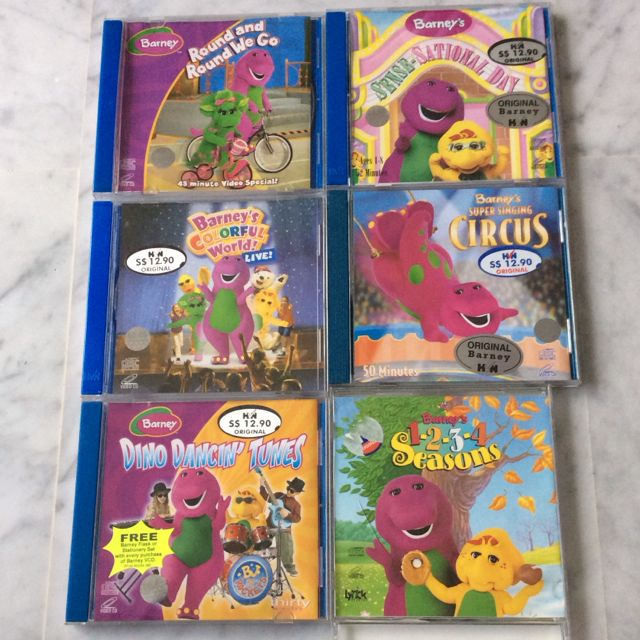 Original Barney VCD, Babies & Kids on Carousell