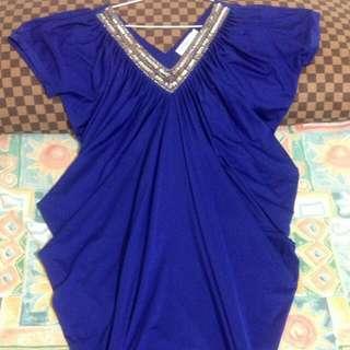 寶藍連身裙