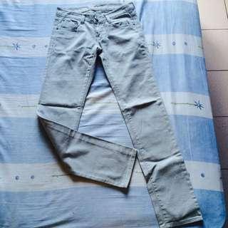 (已保留)藍灰色 牛仔褲 26腰 Made In Korea