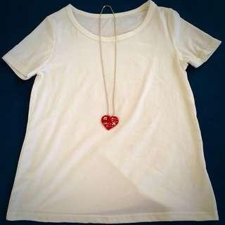 全新紅色愛心造型項鍊❤️