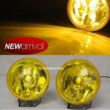 3 Inch Glass Fog Lamp HID Upgrade-able BLUE Yellow White Lens