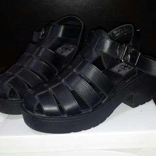 Caged Platform Sandals