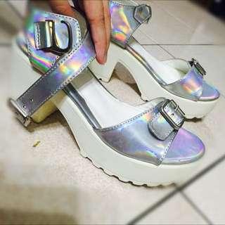 師大 金屬鋸齒厚底鞋