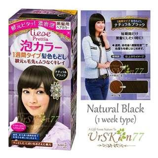 Liese Prettia Bubble Hair Color #Natural Black (1 Week Type)