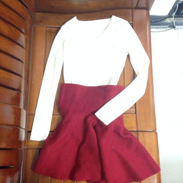 高腰裙&毛衣(售整套(試穿而已