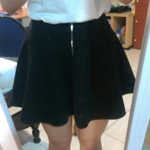 【免運】高腰拉鏈裙子
