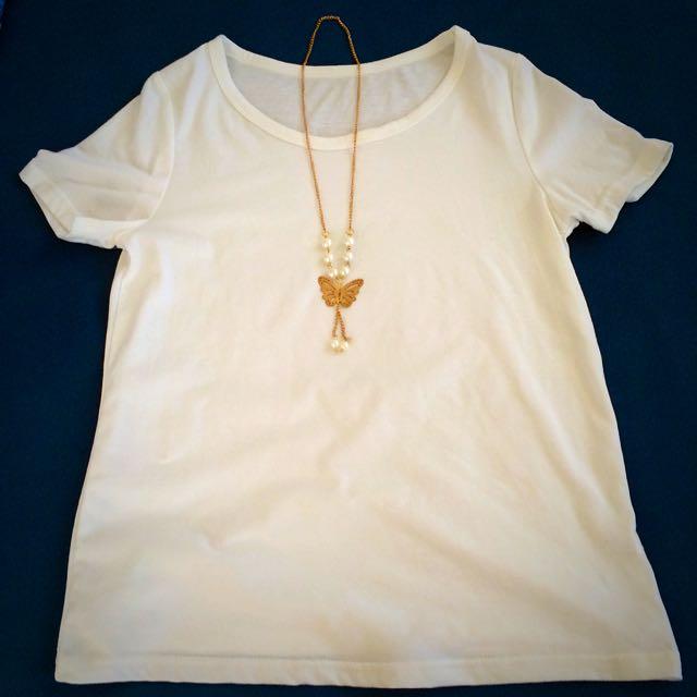 全新✨韓✨珍珠蝴蝶造型項鍊