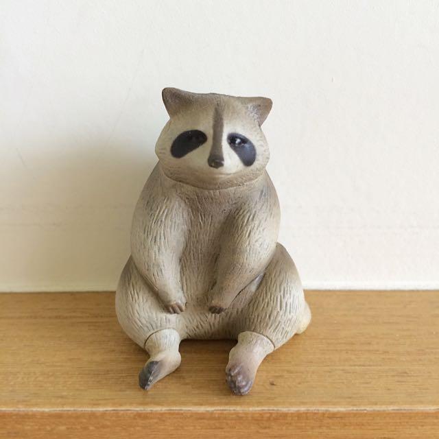 扭蛋-休憩的動物 浣熊
