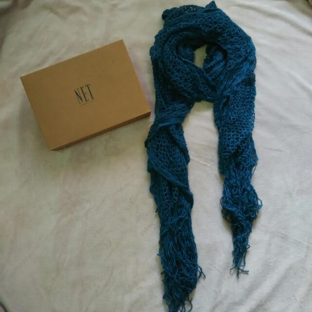 全新NET圍巾(寶藍色)