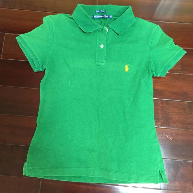 RL 綠色Polo衫