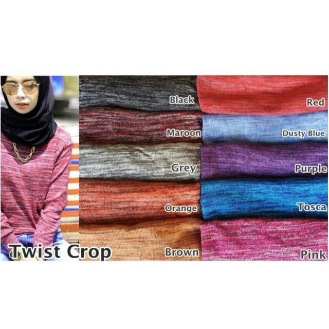 Twist Crop Sweatshirt