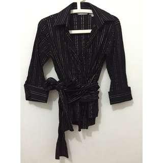 Zara Shirt With Obi String - Pre❤️