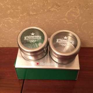 海尼根胡椒鹽罐 實用又創新 全新
