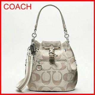 Coach 17930 Poppy Metallic Signature Poppy Cinch