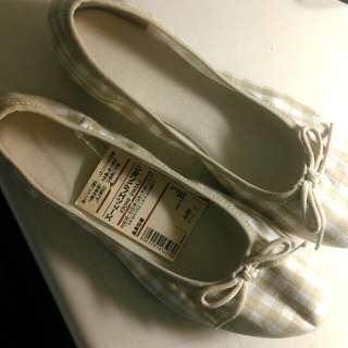 無印良品蝴蝶結軟鞋
