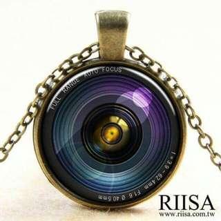 【全新】復古青銅相機鏡頭造型項鍊