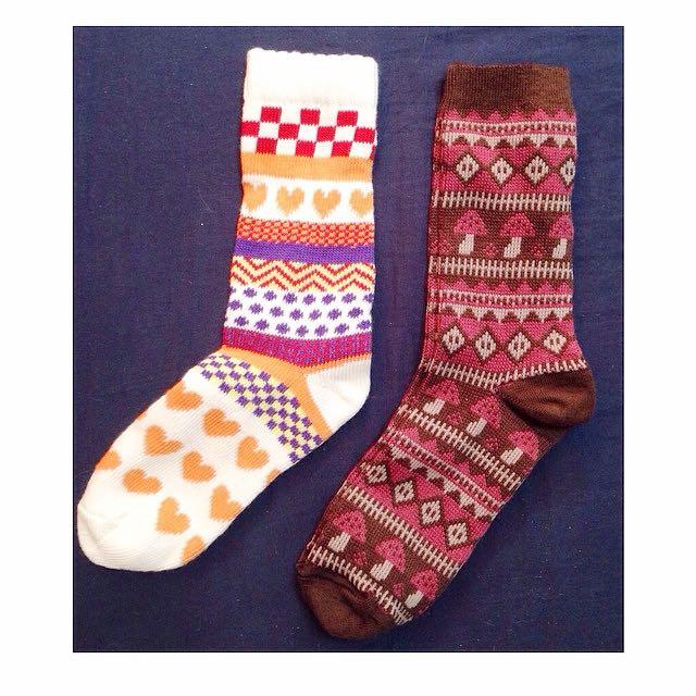 愛心❤️/蘑菇🍄中筒襪