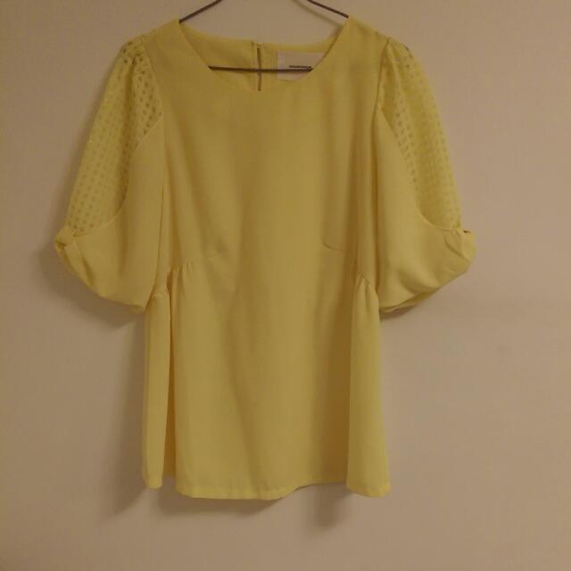 (全新)韓版氣質紡紗衣