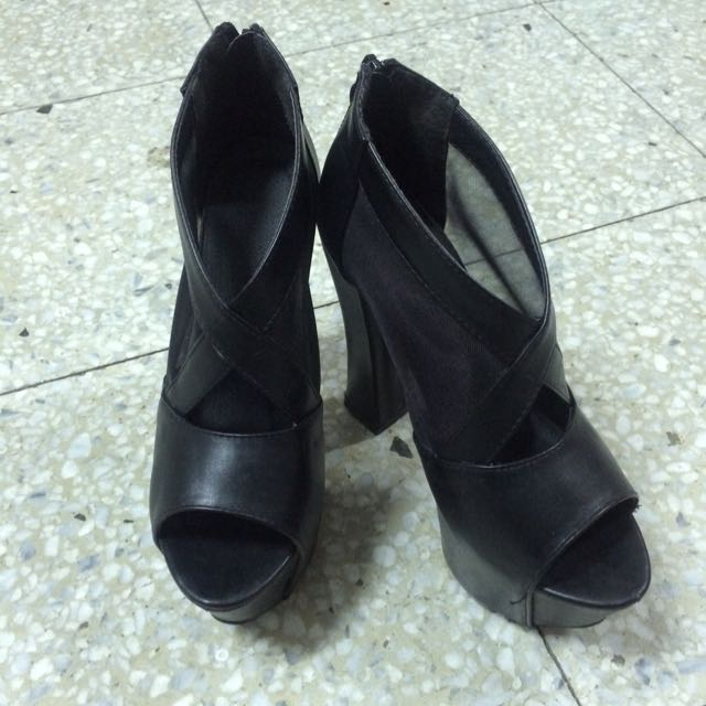 黑色魚口高跟鞋👠