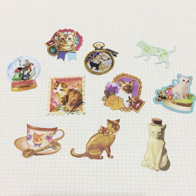 綜合貼紙包-貓咪
