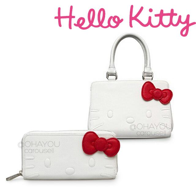 32f3606e95 Loungefly X Hello Kitty White Quilt Walking Stitch Face Wallet and ...