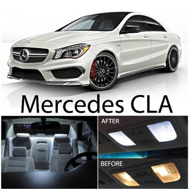 White Colored Premium Package Kit Led Interior Lights For Mercedes Benz Cla Cla250 Cla45 Amg