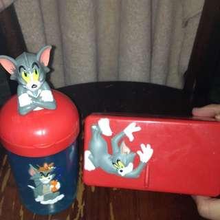 ⭐️含運⭐️麥當勞 湯姆貓與傑利鼠 水杯餐盒 兒童 合售