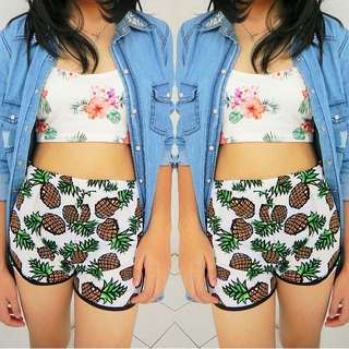 Pineapple Print Short