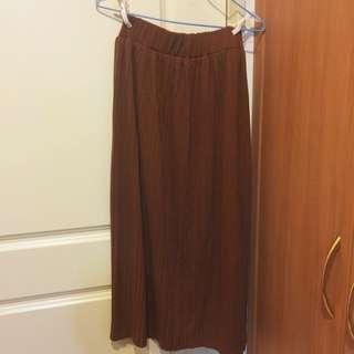 二手 棉質 百摺長裙