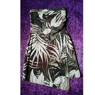 Asymmetrical Jungle Tube Dress