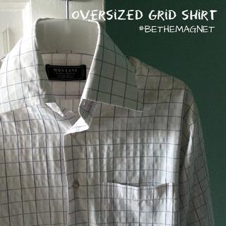 [BN] Oversized Grid Shirt