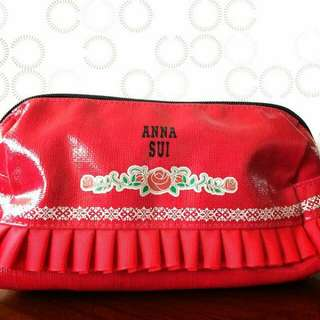ANNA SUI 化妝包。紅色薔薇。