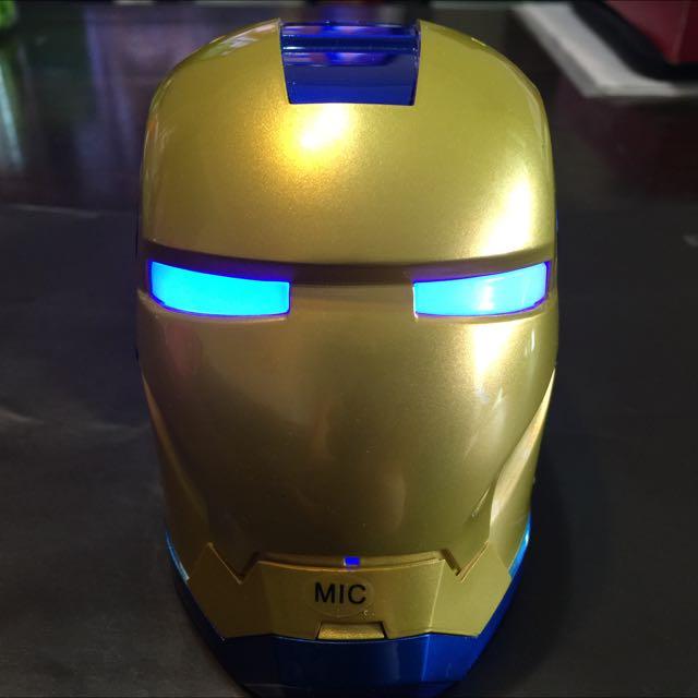鋼鐵人造型 藍芽無線喇叭(可接聽電話)-愛國者(藍)