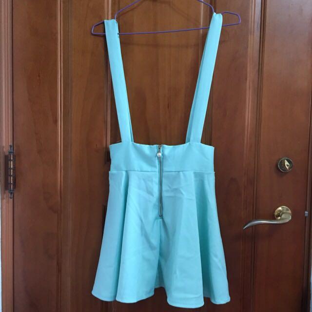 (保留中)水湖綠吊帶裙