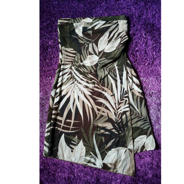 Asymmetrical Jungle Tube Dress