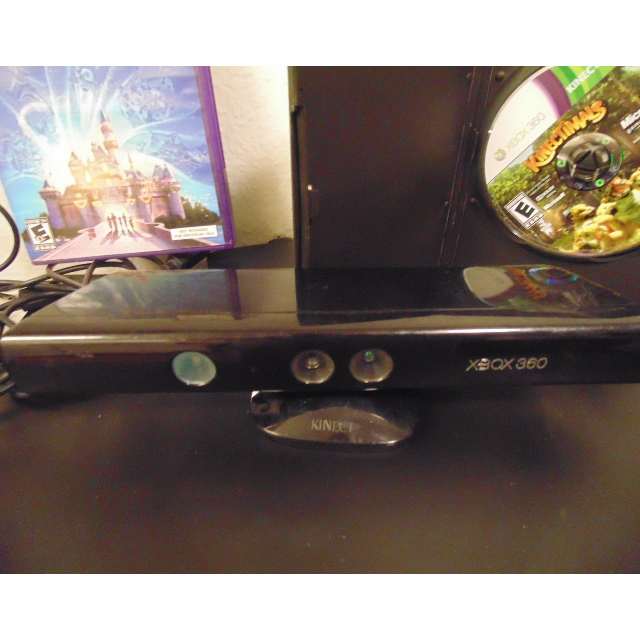 Official Microsoft X-box 360 Kinect Sensor Bar and 2 games