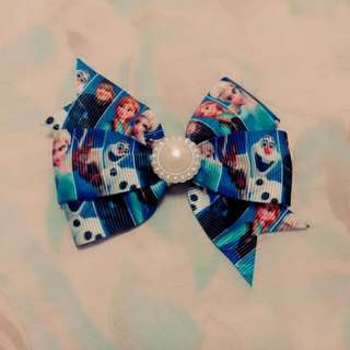 手工 緞帶蝴蝶結 冰雪 愛莎 安娜