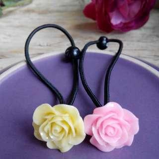 韓式髮圈-玫瑰花