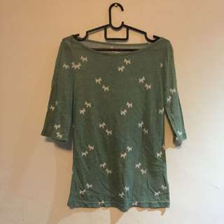 3/4 Sleeve UO Top