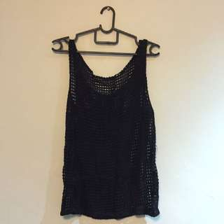 Netted Black Tank