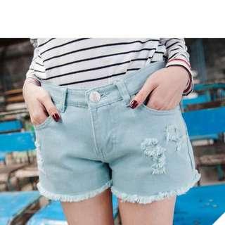馬卡龍短褲:水藍(含運)