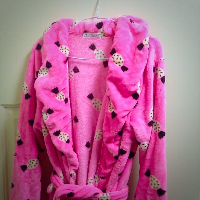 保留 9成新 粉色浴袍 可當睡袍
