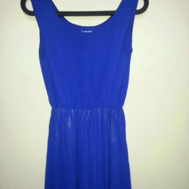 寶藍色長洋裝