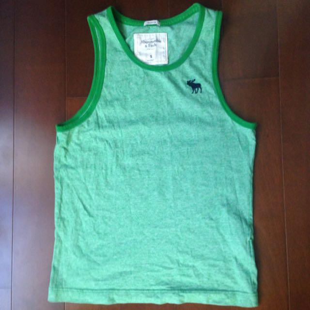 Abercrombie 綠色背心 S號
