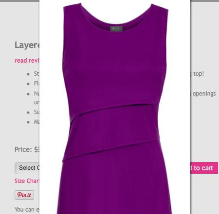 3da714b352240 BSleeveless Nursing Top by Milk Nursing Wear in Purple / Medium, Women's  Fashion on Carousell