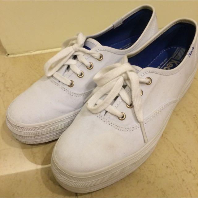 Keds厚底帆布鞋