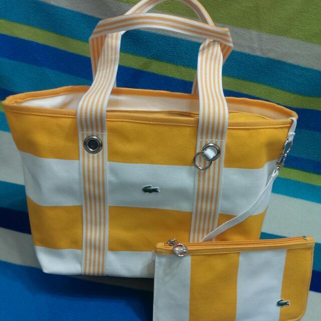 Lacoste 全新正品 手提袋帆布包